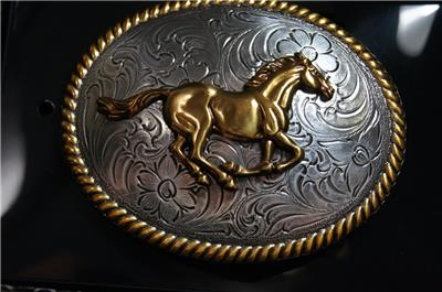 Nocona Blazin Roxx  Horse Running Belt Buckle 37560