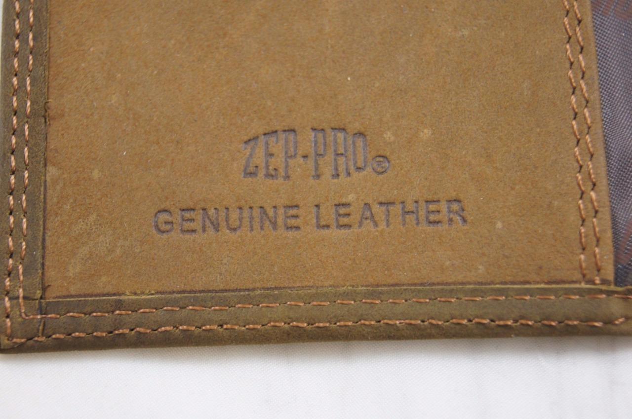 ZEP-PRO Georgia Tech Yellow Jackets  Crazy Horse Leather Roper WALLET Tin Box