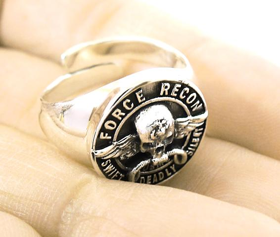 Force Recon Usmc U S Marine Corps Sterling 925 Silver