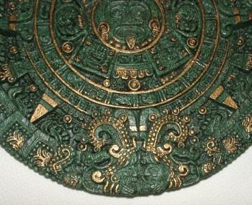 Mexican Aztec Maya Mayan Calendar Green Amp Gold Stone Wall