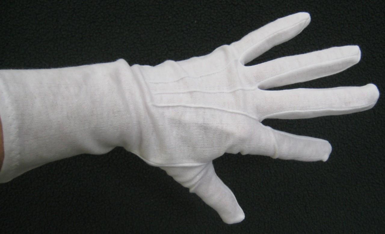 100% Cotton Long WHITE Gloves NEW Vintage Lg or Med ...