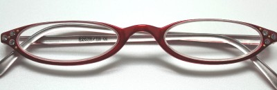 276c1133c4e2 RED Flex Cateye Rhinestone READING GLASSES Readers 3.0 on PopScreen