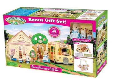 Calico Critters Cc1563 Forest Nursery Gift Set With Bus
