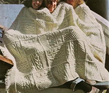 Vtg Knitting Pattern Book Fisherman Irish Aran Afghans 9