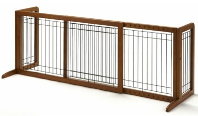 New Expandable Dog Fence Doorway Pet Barrier Stand Alone