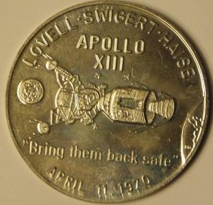 Action Apollo 13 Mission Nasa Space Coin Antique Nickel ...