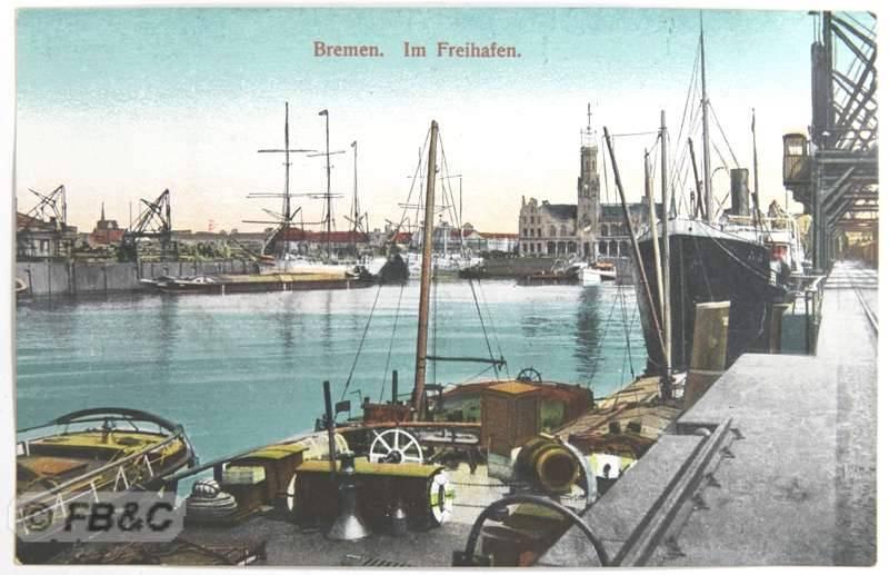 vintage c1910 postcard bremen germany freeport ebay. Black Bedroom Furniture Sets. Home Design Ideas