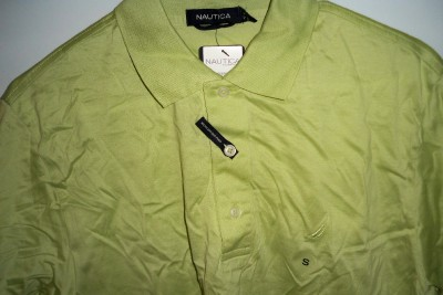 New Mens Nautica Classic Golf/Polo Shirt (Color   Lime Green) Size