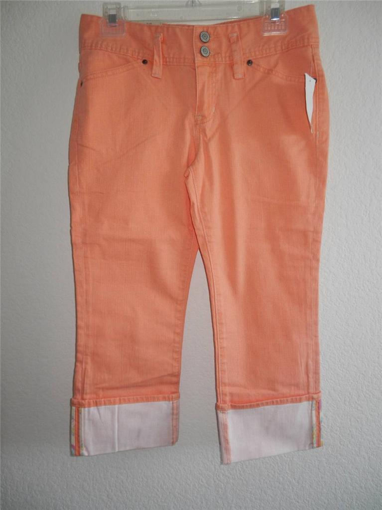 New Women S Gap Capri Pants Sizes 1 2 8 10 12 Yellow