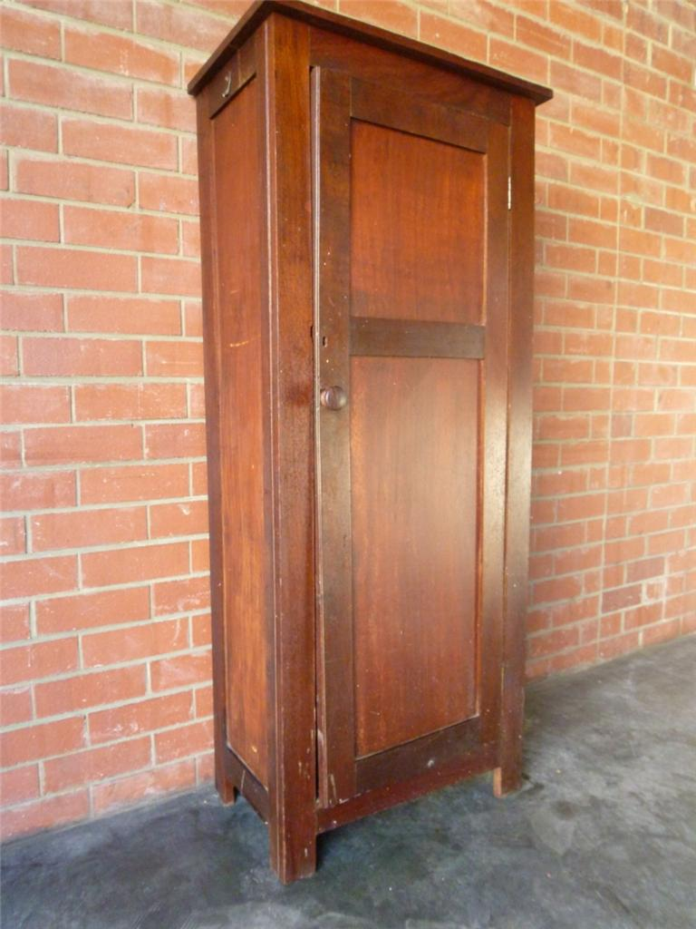 Vintage Antique Rustic Jarrah Linen Pantry Storage