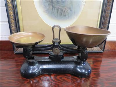Vintage Antique Style Cast Iron Kitchen Scales Amp Brass