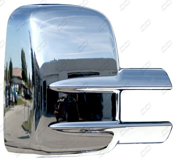 chrome mirror covers for 2000 2015 chevy silverado 2500 3500 hd w towing mirrors. Black Bedroom Furniture Sets. Home Design Ideas