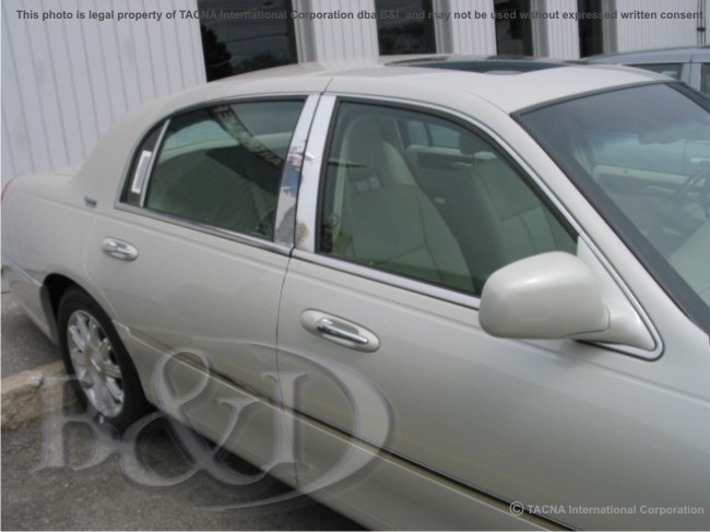 Lincoln Town Car 98 04 05 06 07 08 Chrome Pillar Posts For Sale