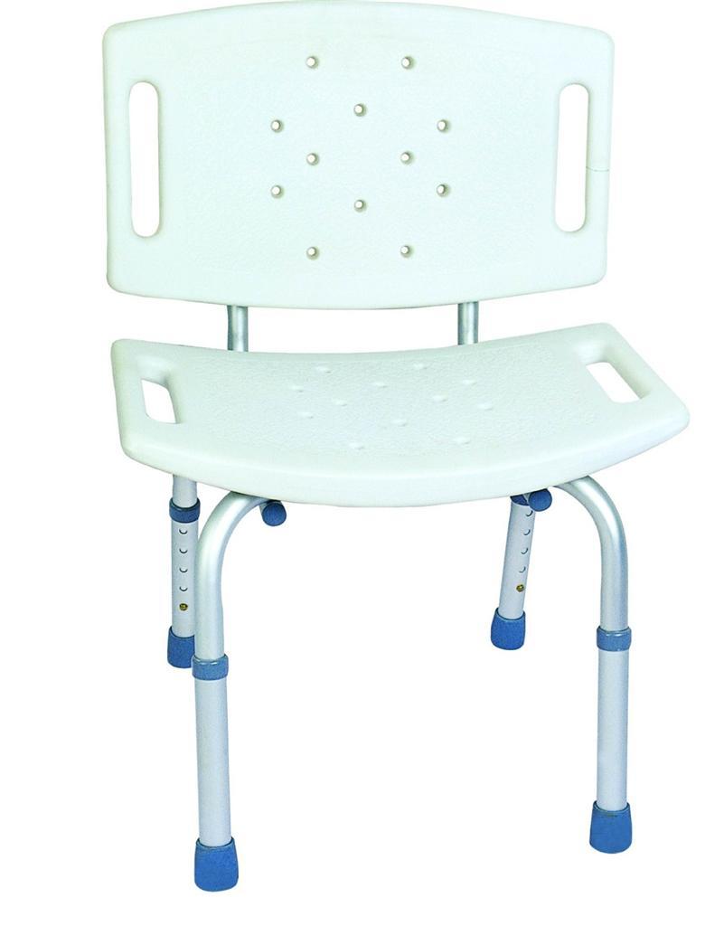 Folding Bath Shower Seat Stool Bench Adjustable Height