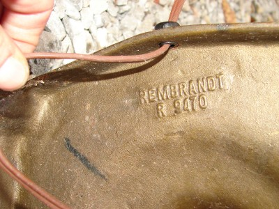 Vintage Rembrandt R 9470 Brass Floor Lamp Light W/Glass Shade | EBay