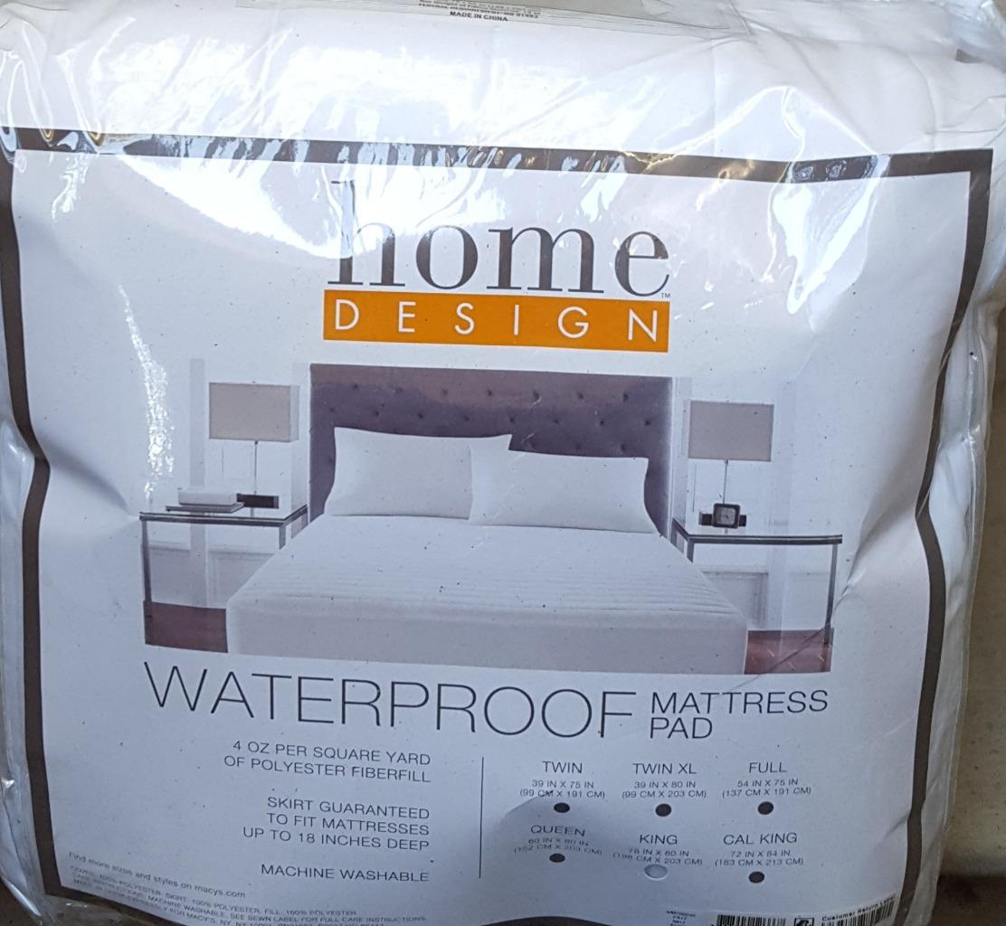 Home Design Waterproof Mattress Pad - King Size - BRAND NEW