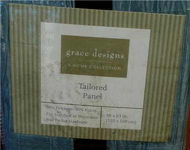 Grace Designs Home Collection Taylored Curtain Panel New Brand In Original Manufacturer S Retail Packaging Product Details Pleated Taffeta