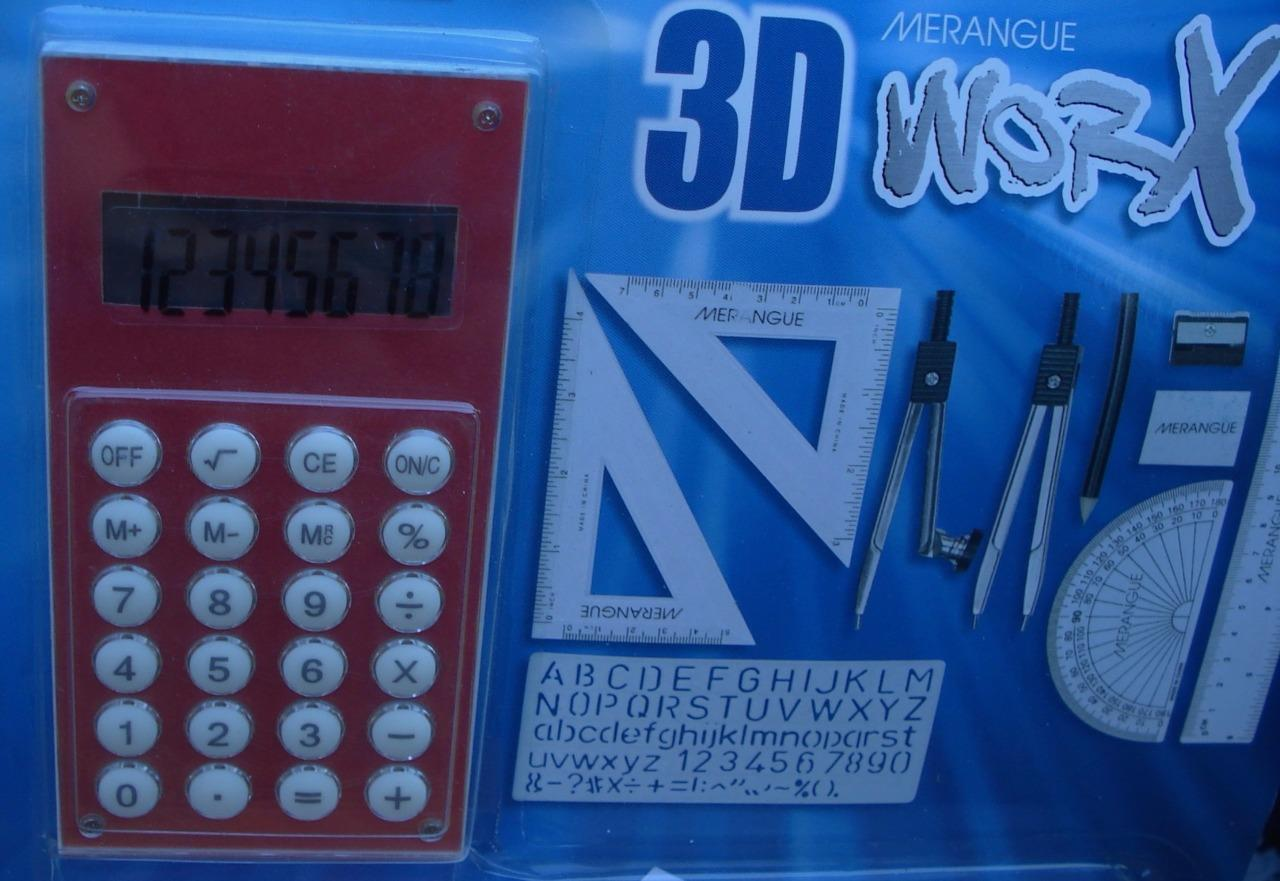 GREAT SET BRAND NEW IN BOX Choose Design Merangue 3D Worx 12PC Math Set