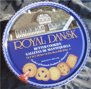 8e567b095eb7 Royal Dansk Butter Cookie Tin - VGC - GREAT COLLECTIBLE TIN - VIVID ...
