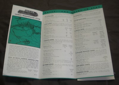 Yosemite National Park Brochure 1949 Super Condition Ebay