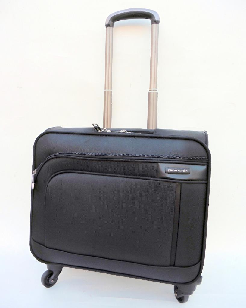 Details About New Pierre Cardin 4wheel Mobile Office Carry On Luggage Bag Business Laptop Case