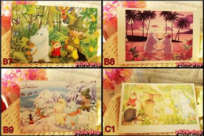 Les 2 x Moomin Valley Pearly lustre Sunface CARTE POSTALE