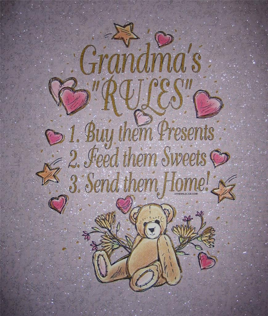 GRANDMA'S RULES Fabric Quilt Panel Presents Sweets Send ...