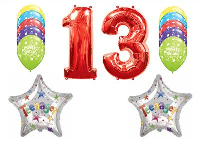 This Listing Is For A 14 Piece 13th Birthday Teenager Happy Balloon Decorating Kit Such Fun Balloons An Important Event