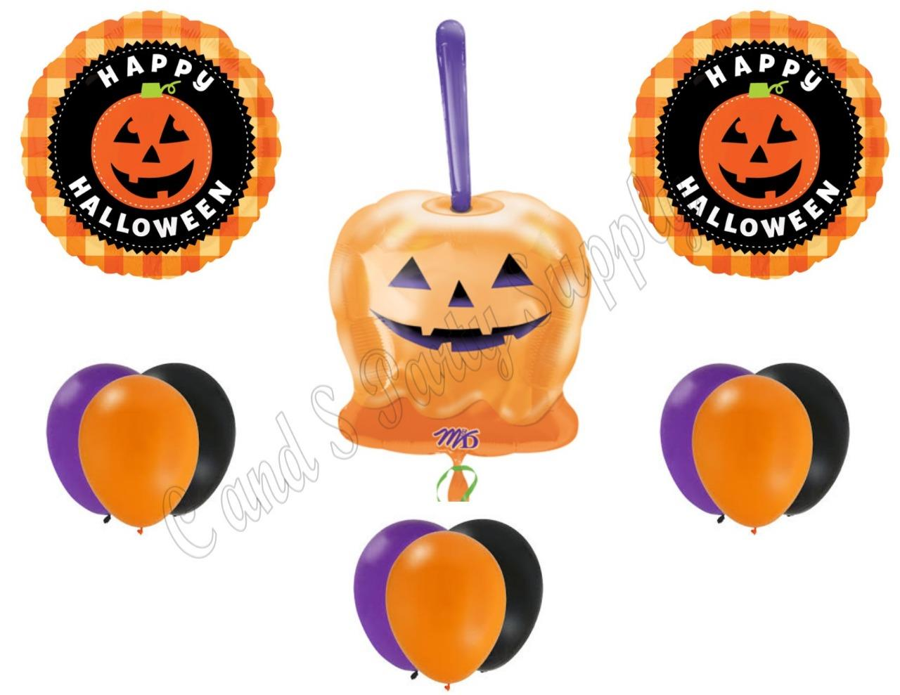Details about CANDY APPLE HALLOWEEN Party Balloons Decoration Supplies Trick Treat Pumpkin