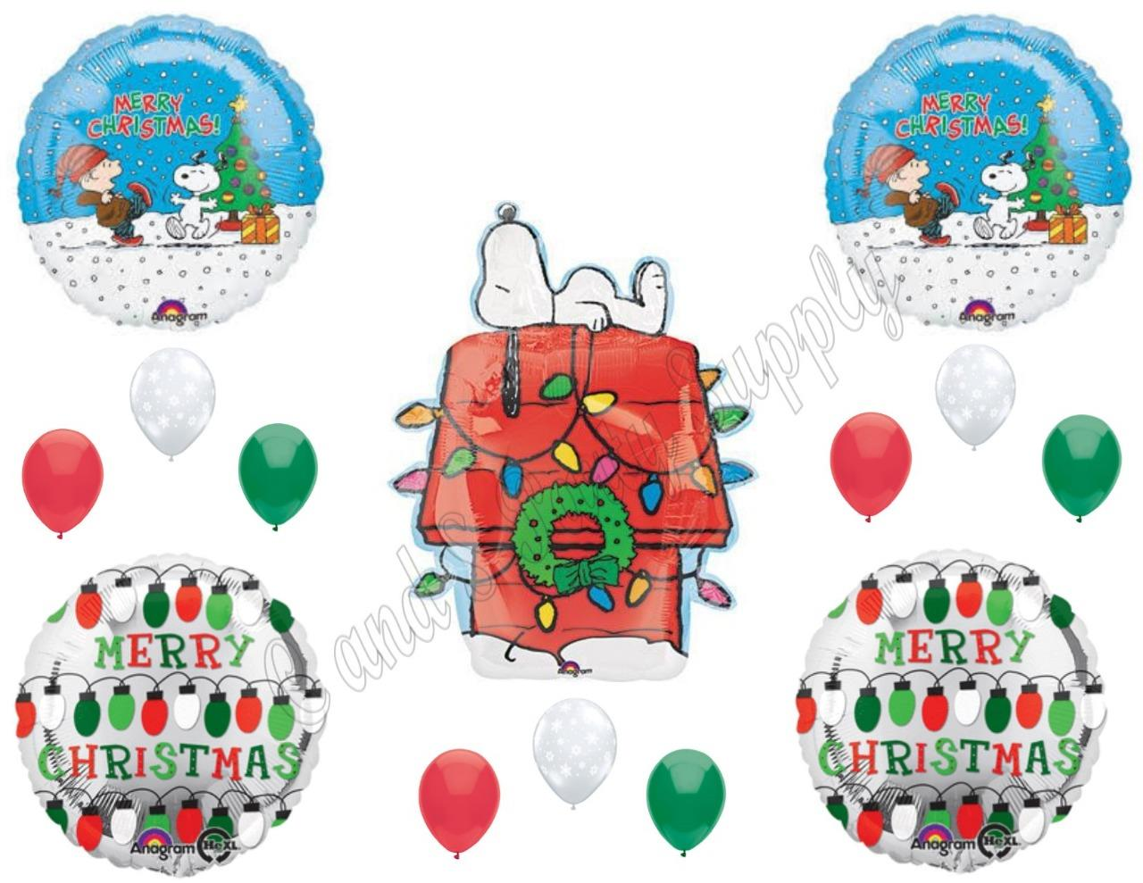 PEANUTS\' SNOOPY Charlie Brown CHRISTMAS Lights Balloons Birthday ...