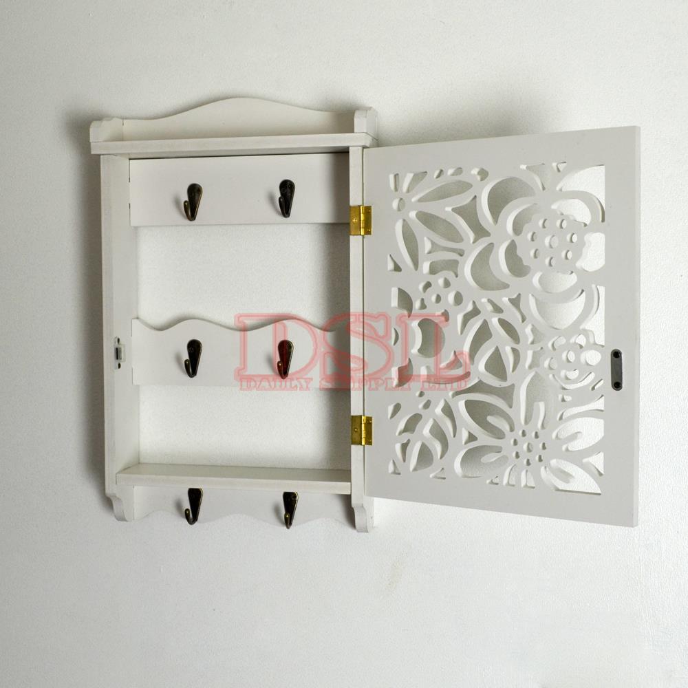 Diy Wall Mounted Filigree Key Box Brackets Cupboard Hooks