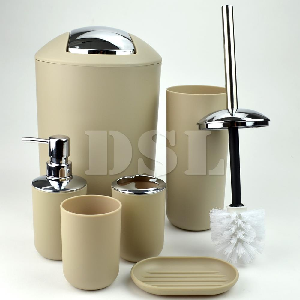 New stylish 6pcs bathroom accessories set tumbler toilet for New bathroom set