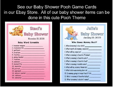 20 winnie the pooh baby shower invitations its a girl design ebay 100 money back guarantee 20 pooh its a girl baby shower invitations filmwisefo