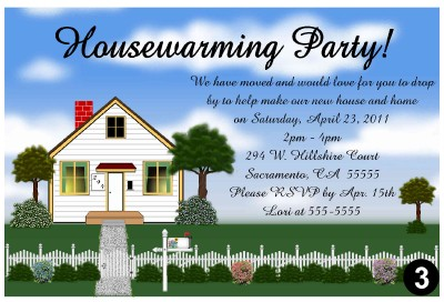 HOUSEWARMING PARTY INVITATIONS | eBay
