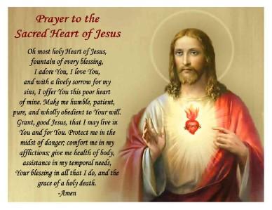 Sacred Heart Of Jesus Prayer Magnet Ebay