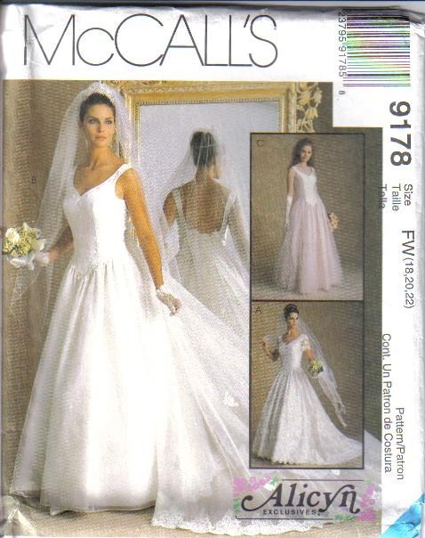 wedding dress sewing patterns uk | Wedding
