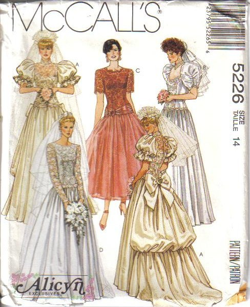 Sewing Patterns For Wedding Gowns: OOP Bridal Wedding Gown Bridesmaid Dress Misses Size