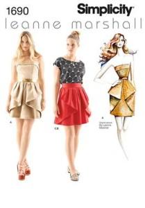 OOP Lovely Formal Dress Designer Leann Marshall Simplicity Sewing Pattern UPICK