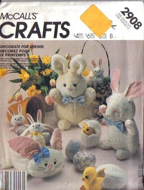 Mccalls Sewing Pattern Stuffed Bunny Rabbit Mccall S