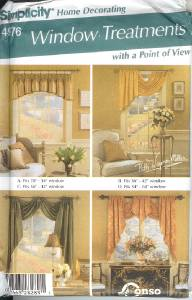SIMPLICITY HOME DECORATING WINDOW TREATMENTS pattern 4976