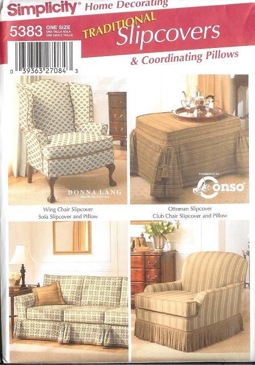 Simplicity Slip Covers Chair Sofa Ottoman Home Decor