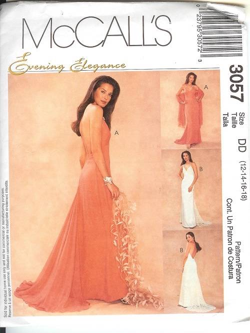 Mccalls Sewing Pattern Misses Bridal Evening Gown