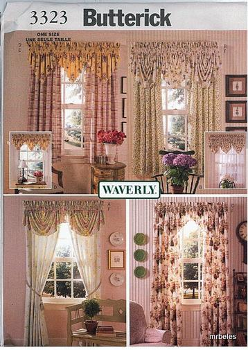 Oop Erick Sewing Pattern Window Treatment Home Decor