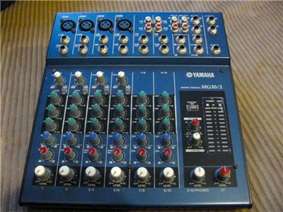 yamaha mg10 2 audio mixing console with mic stand adapter and power supply mint ebay. Black Bedroom Furniture Sets. Home Design Ideas