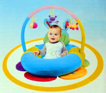 New Happy Baby Sit Me Up Cosy Blossom Inflatable Ring