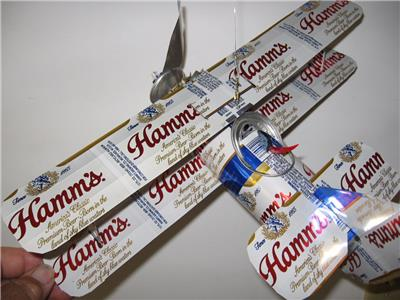 Hamm S Beer Can Airplane Handmade Wind Spinner Can Art