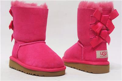 UGG Australia Toddler Bailey Bow 3280T Boots Size 8