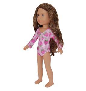 "Leotard Doll Clothes for 14/"" Wellie Wishers dolls TKCT purple plum metallic"