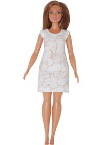 Short Dress made for Curvy Barbie Fashionista Doll Clothes TKCT Blue-White