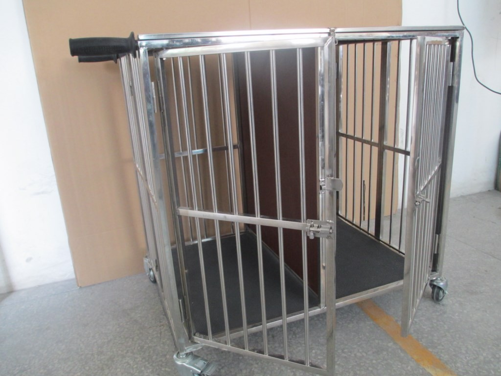 Heavy Duty 2 Berth Foldable Folding Stainless Steel Dog
